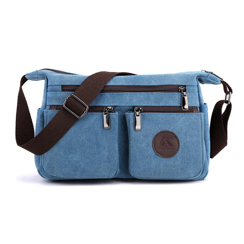 الثقيلة قماش Crossbody المرأة زيبر عادية السفر رسول حقيبة كتف سعة كبيرة العمل سيدة حقيبة يد بلون حقيبة مدرسية