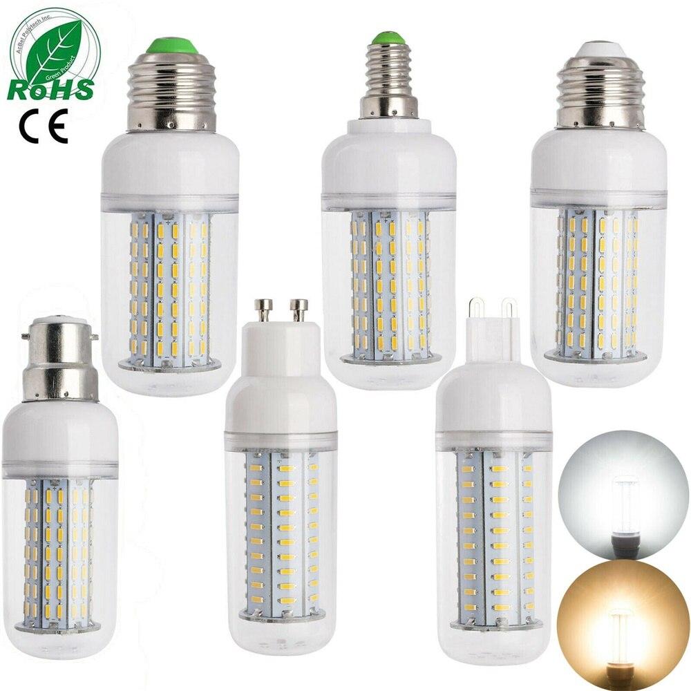 Bombilla LED regulable E27 E14, Bombilla de maíz 14W 18W 25W SMD 4014 220V 110v, lámpara LED, candelabro, vela, luz LED para decoración del hogar, lámpara