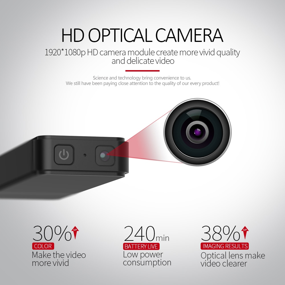 1080P HD mini sports camera battery life 4 hours motion detection support 128GB  microSD card enlarge