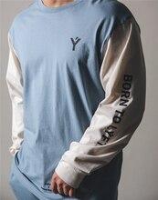 LYFT – T-shirt à manches longues pour homme, vêtement de marque japonaise, en coton, décontracté, pour la Gym, le Fitness et la musculation, 2020