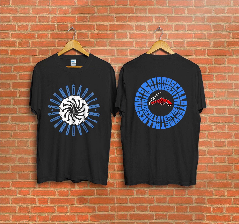 Vintage Soundgarden concierto Tour 1992 Badmotorfinger Grunge Somms T camisa
