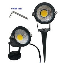 9W 7W 5W 3W Led LED De Jardin LED LAMPE 110 V 220V COB EXTÉRIEUR de Projecteur de Paysage avec la Base de pointe IP65 Jardin Voie Lumière De Pelouse
