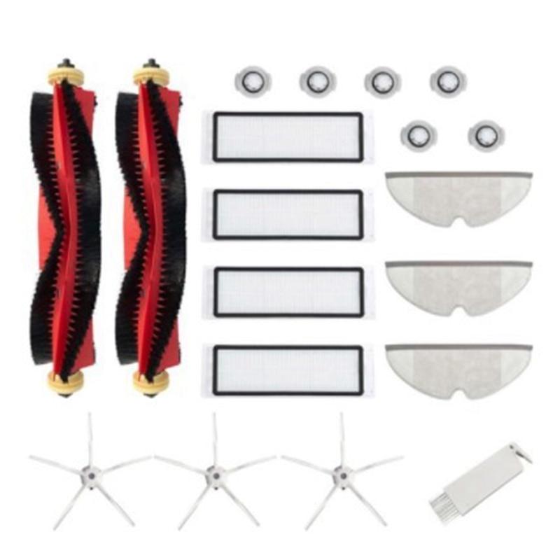 مجموعة فرشاة دوارة قابلة للفصل لهواتف شاومي روبوروك S6 S5 ماكس S60 S65 مكنسة كهربائية ممسحة الملابس فرش مكنسة كهربائية