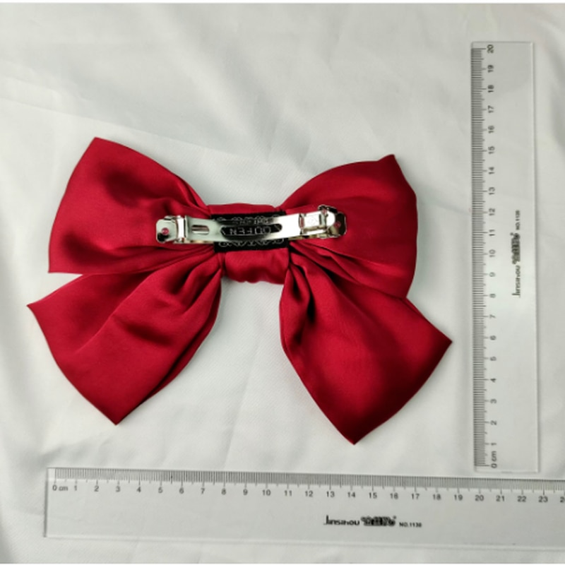 Fashion Big Bow Hairpin Cute Red Hairpin Pink Hairpin Ladies Solid Korean Version of Large Bow Hair Accessories Hair Clips