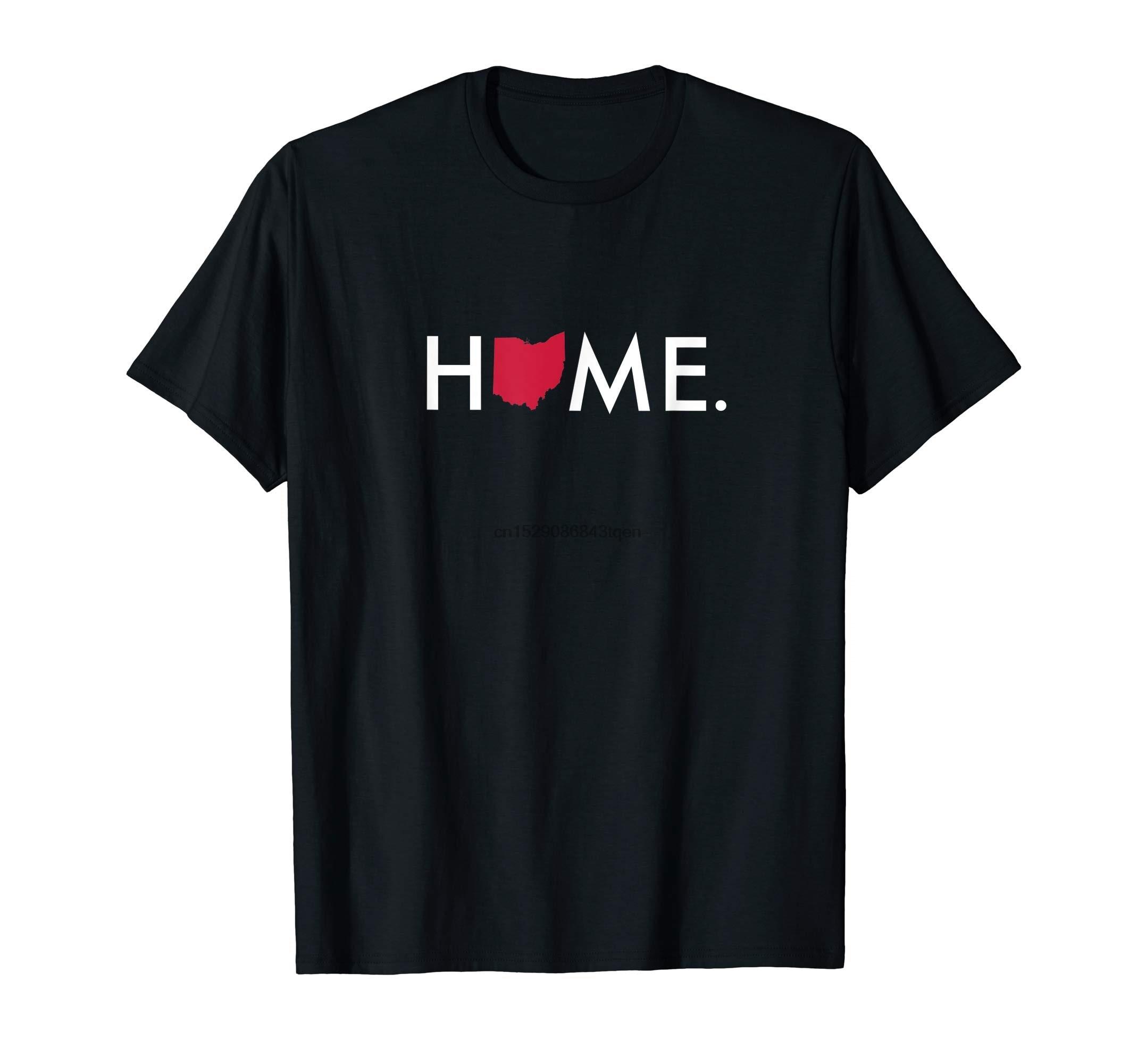 Camiseta de estado de Casa de Ohio, camiseta de hombre, negro