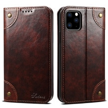 Classic Wallet Flip Genuine Leather Case For Iphone 11 12 Pro 11pro X Xs Max Xr 6s 7 8 Plus Magnetic