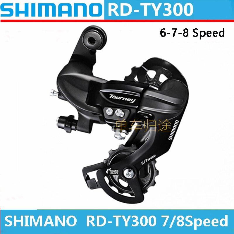 SHIMANO SIS MTB piezas de bicicleta RD-= TY300 bicicleta de montaña MTB 7/8 velocidad de transmisión trasera de bicicleta