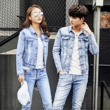 Heren Jeans Pak Zweet Vrouwen Set Mannen Jas Lente/Herfst Jeans Trainingspak Street Style Cowboy Jas Plus Size Mannen casual Pak