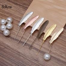 Boyute Custom Made (200 Stuks/partij) metalen Messing 12*52Mm Veer Revers Pin Mode Broche Pins Sieraden Accessoires Groothandel