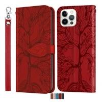 3d tree flip leather case for xiaomi 10 lite 11 poco x3 m3 redmi 9 9a 9c 9t k30 note 9t 10 10 pro phone book cover cases