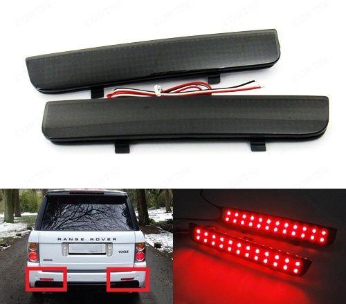 Reflector de parachoques ahumado negro, luz de freno LED trasera DRL L322 para Land Rover Range Rover LR2 Freelander