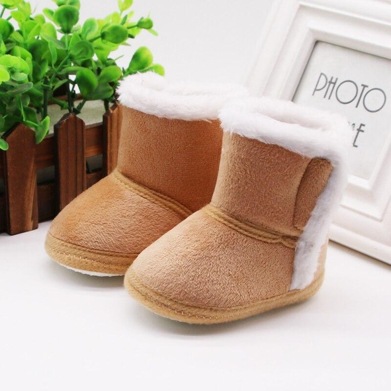 Ботинки для новорожденных; зимние ботинки для первых шагов; обувь с кисточками для маленьких девочек; очень теплые ботиночки на меху; нескользящие ботиночки с мягкой подошвой