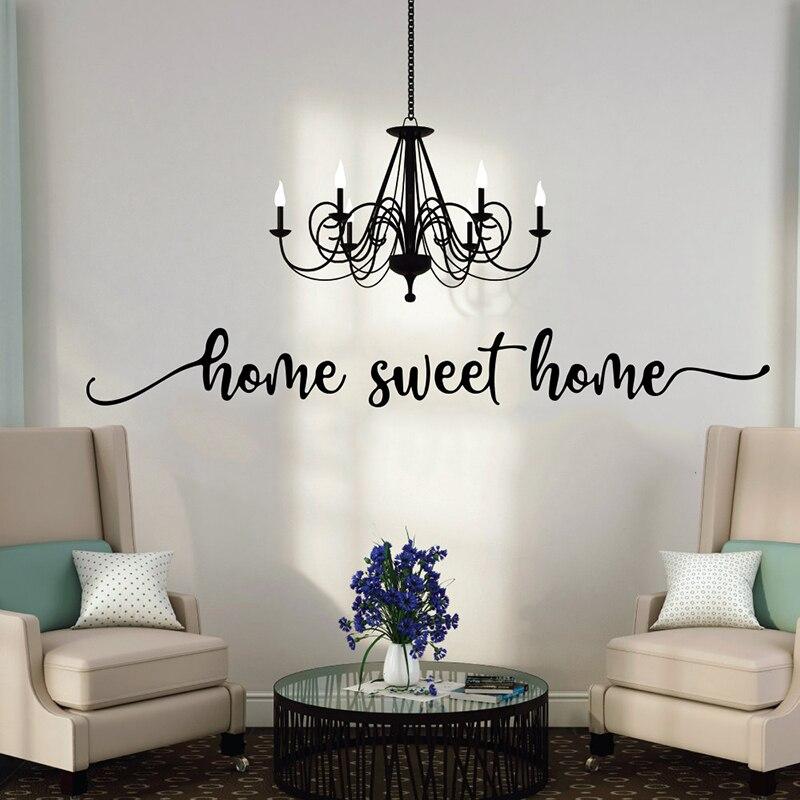 Casa doce casa palavras adesivo de parede entrada quarto grande família amor citação doce casa citação decalque da parede sala estar vinil decoração
