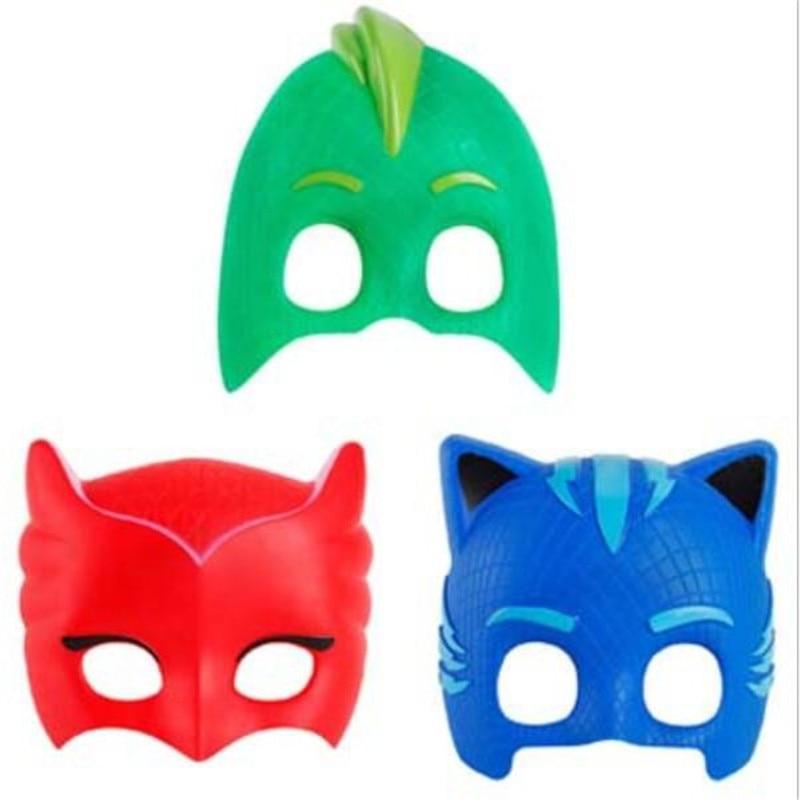 AliExpress - 3 Pcs/Set Pj Masks Series Anime Kids Toys Masquerade Ball Mask Action Figure Children Halloween Party Gifts