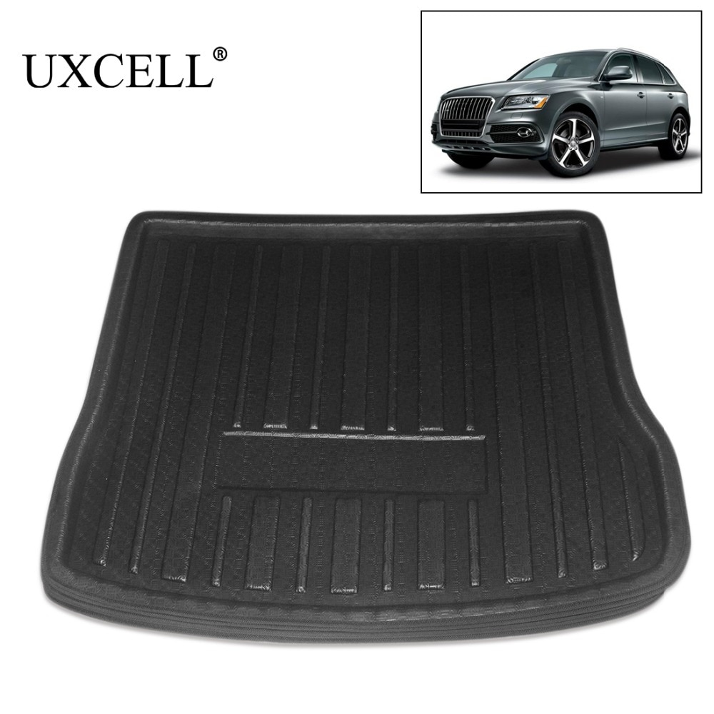 UXCELL PE + espuma EVA, bandeja trasera de plástico negro para maletero, forro para botas, alfombrilla protectora para suelo de carga, cubierta para alfombra para Audi Q5 A3 2013 a 2018