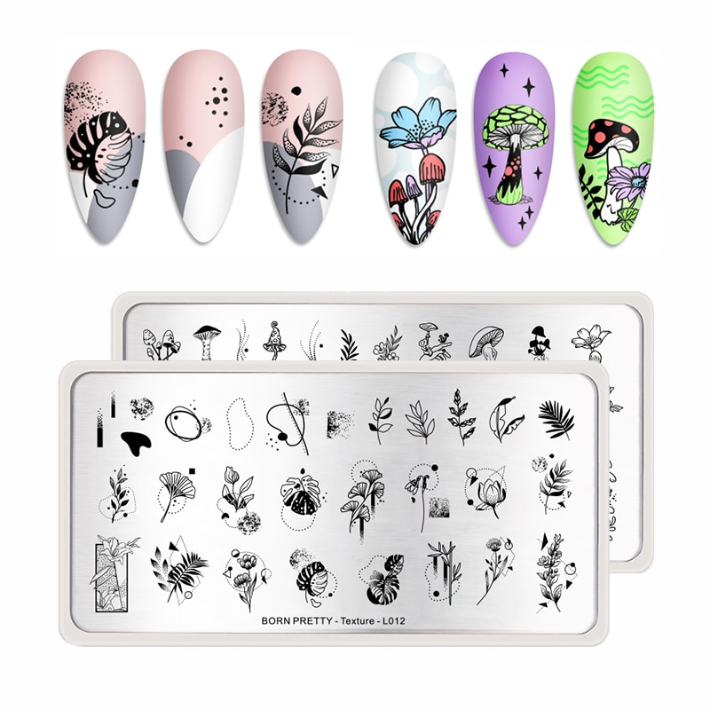 BORN PRETTY Flower Artist Stamping Plates For Nails Texture Gemetory Nail Template DIY Image Printing Stencils Tools