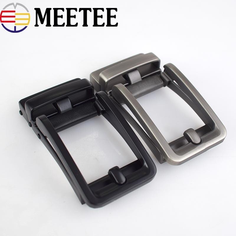 Cinturones de Metal sólido para hombres de negocios, cinturón de cabeza con hebilla automática a la moda para cinturones de 34-35mm para hombres, cinturón Ceinture 35