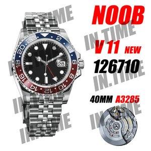Men's Mechanical Watch GMT Master II 126710 BLRO Real Blue/Red Ceramic 904L Noob 1:1 Best On Jubilee Bracelet A3285 Wtaerpoof01