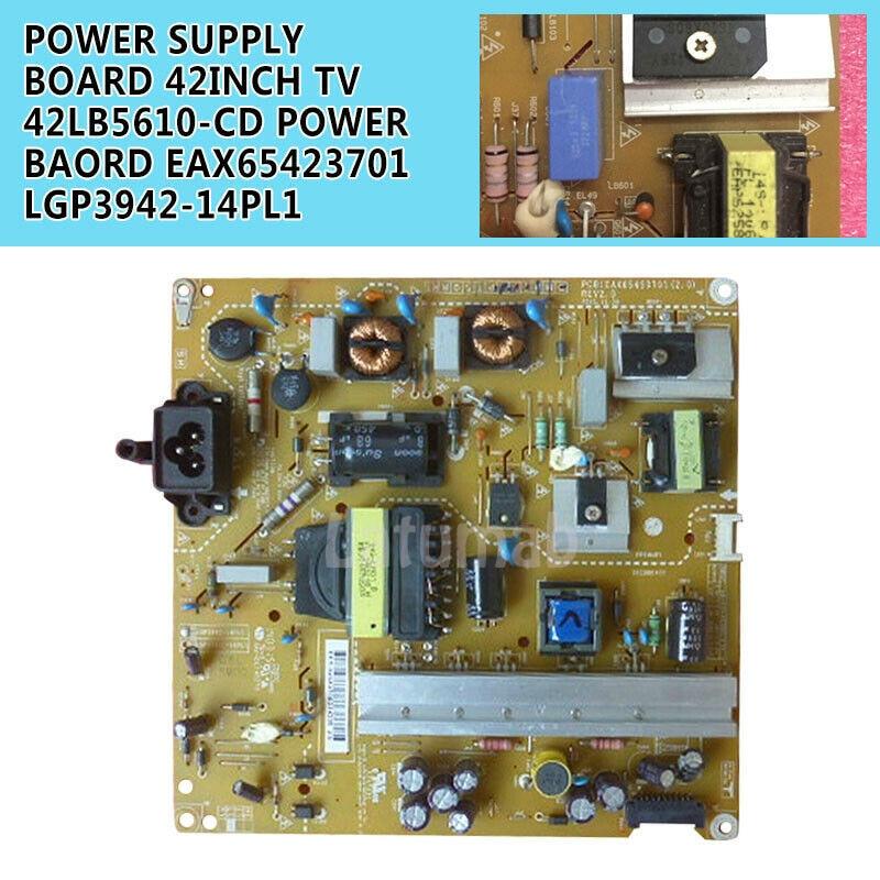 Placa de alimentación duradera para LG 42 TV 42LB5610-CD/42LB5520-CA, 100% EAX65423701, funciona con LGP3942-14PL1 de prueba