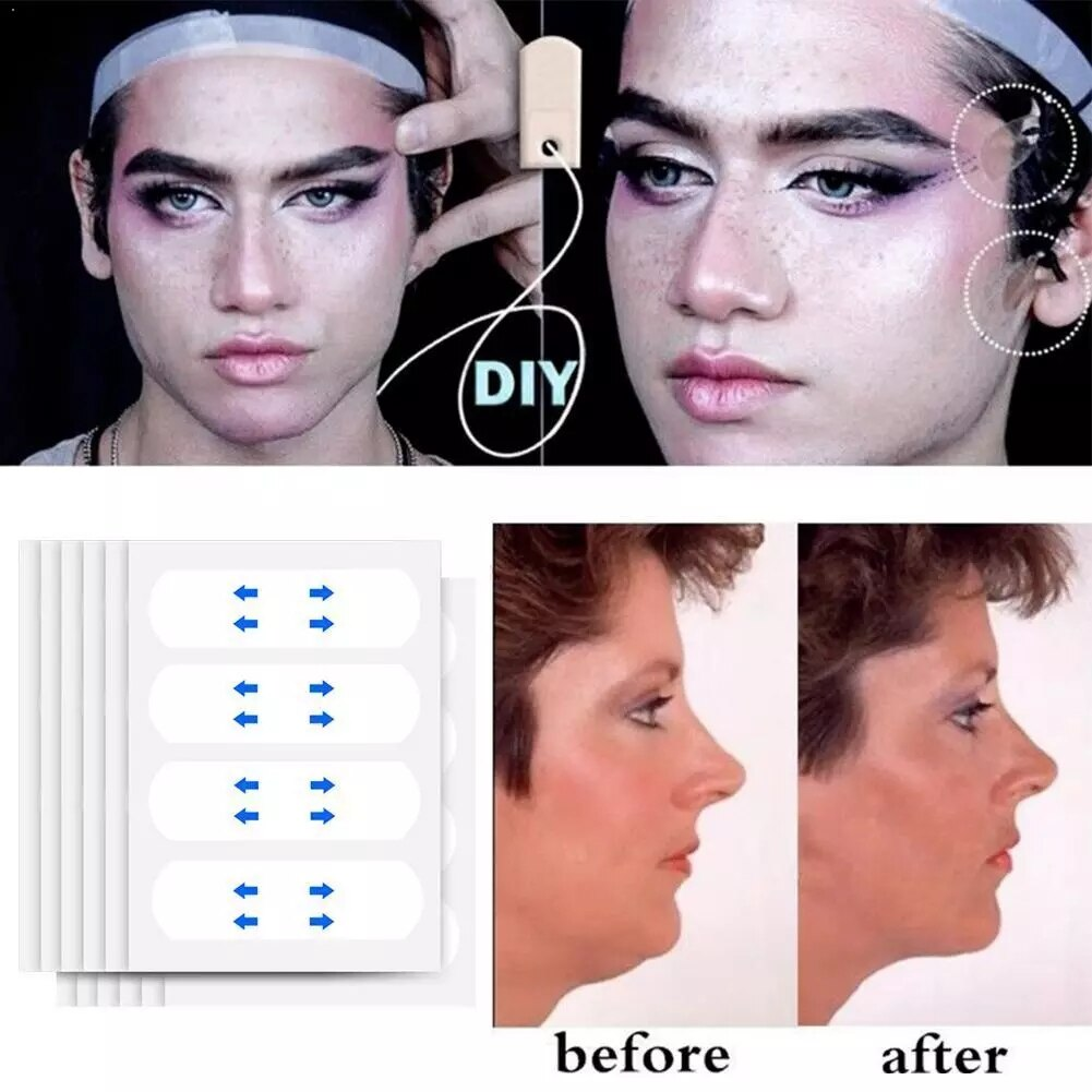 40 Pcs/Set V face shape Thin Face Invisible facial Stickers Facial Line Skin V-Shape Lift Tape Scotch Tools Care