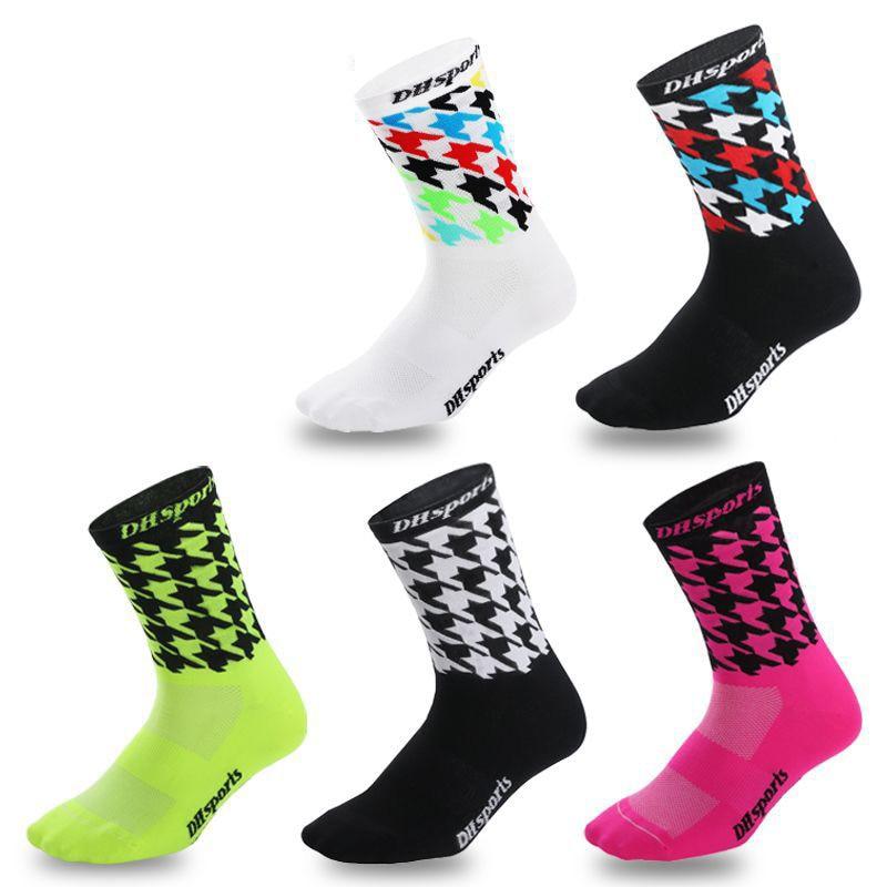 Quality Professional Cycling socks High cool tall mountain bike socks 5 Color Outdoor Sport Compression socks sale Running Socks