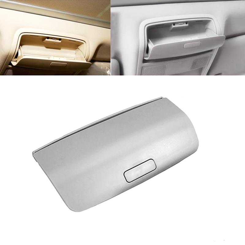Caja de gafas de sol para coche, marco de gafas para Tiguan Golf Mk5 Mk6 Jetta 5 Passat B6 B7 Skoda gris