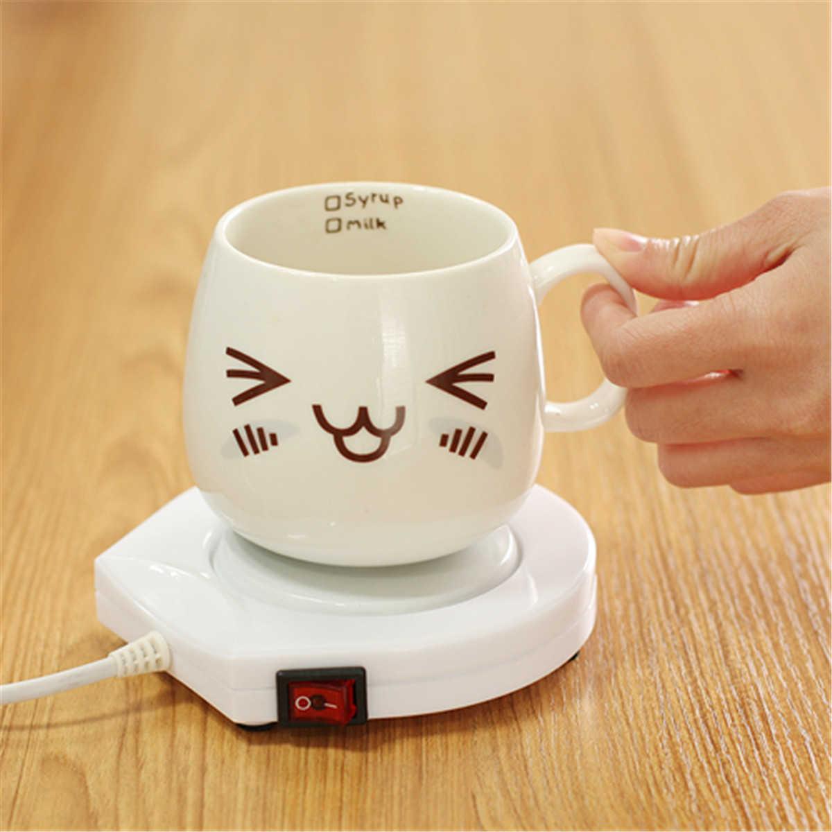 Подогреватель электрический 220 В, белый подогреватель, подогреватель для кофе, чая, молока, кружка для офиса, кухни, дома