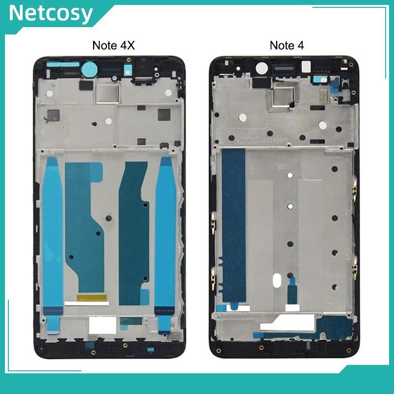 Marco de la placa de la cubierta del bisel de la placa de la carcasa del LCD tablero de marco frontal A para XiaoMi Redmi Note 4 4x Note4 Note4x reparación del marco medio