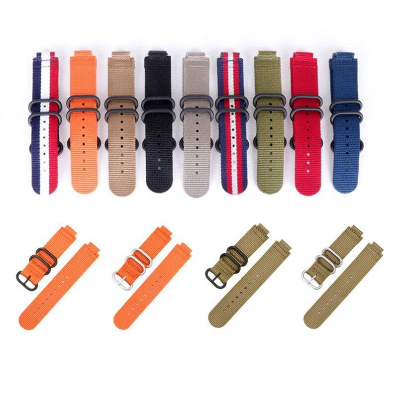 Canvas Replacement Belt Wrist Band Watch Strap for Garmin Forerunner 220 230 235 630 620 735 Approach S20 S5 S6 Smart Watches