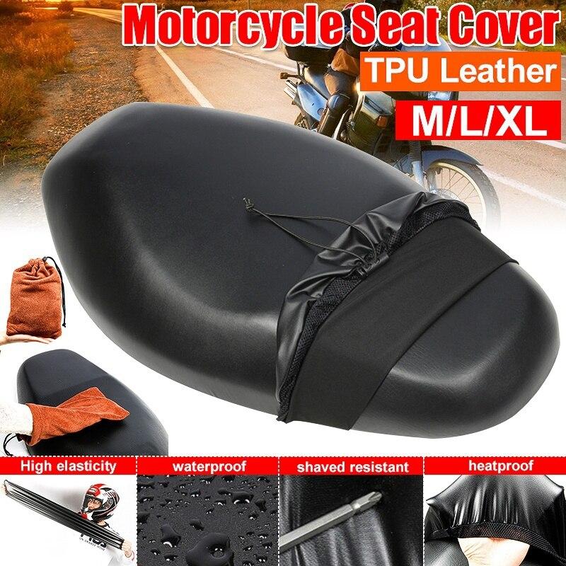 Funda impermeable para asiento de motocicleta, a prueba de polvo, Protector UV, cojín para asiento, accesorios para motocicleta