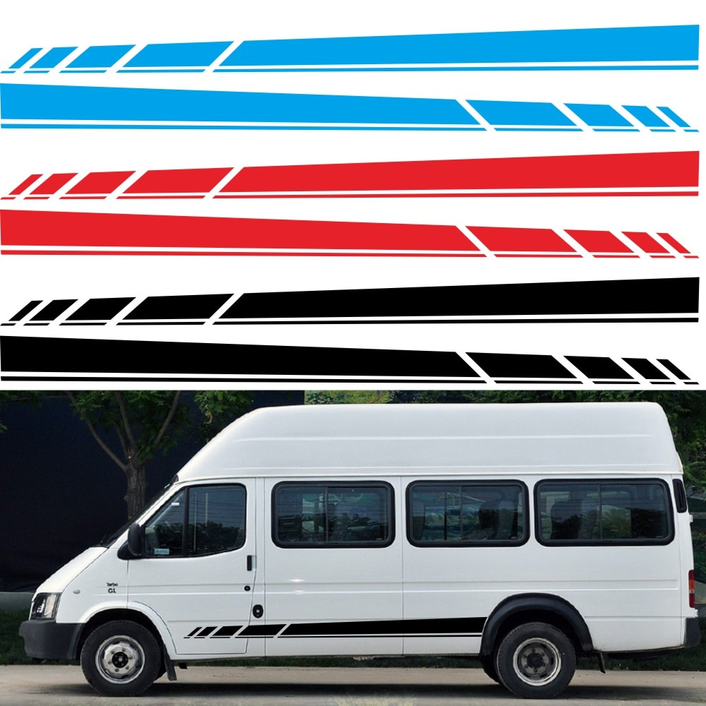 Car Stickers and Decals Vinyl Cars Body Sticker Racing Side Stripe Decal Decoration RV Camper Vinyl Sports Decal Car Accessories 420 sticker decal self adhesive vinyl body decoration waterproof personality accessories car