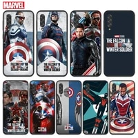 the falcon and the winter soldier for samsung galaxy a90 a80 a70s a60 a50s a40s a30s a20e a10s a2 core 5g black soft phone case