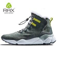 RAX جديد الشتاء الرجال الأحذية الدافئة الصوف أحذية رياضية في الهواء الطلق للجنسين أحذية رياضية احذية الجري مريحة بيع حجم EU36-46