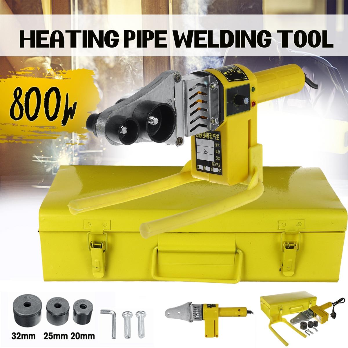 800W Electric Pipe Welding Machine Heating Tool Heads Set For PPR PB PE Plastic Tube PPR Welder Hot Melt Machine Temper Control