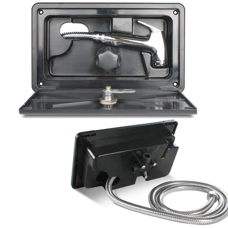 RV Shower Box Kit with Lock-Includes Shower Faucet Shower Hose Shower Wand for Boat Marine Camper Motorhome Caravan enlarge