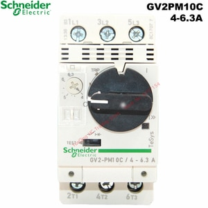Schneider Electric GV2PM10C 4-6.3A Motor Thermal Magnetic Circuit Breaker Knob GV2-PM10C GV2ME 10C 3P Protection Switch Setting