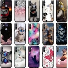 Phone Cases For OPPO Realme 5 Case Soft Silicone TPU Cute Cat Painted Back Cover For OPPO Realme 5 5