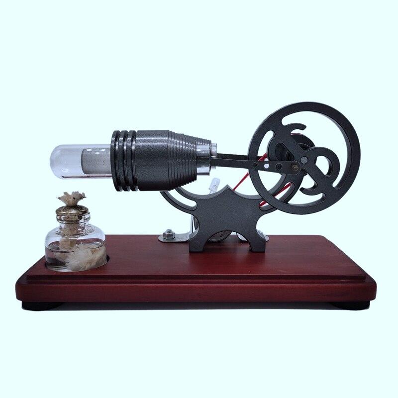 Горячий воздух двигатель Стирлинга Красочный светодиодный маховик развивающая игрушка электрическая модель физический двигатель силовой...