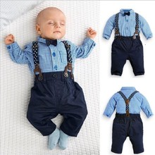 Ensemble de vêtements de printemps pour bébés garçons   Salopette pour garçons, costume à bretelles pour fête danniversaire
