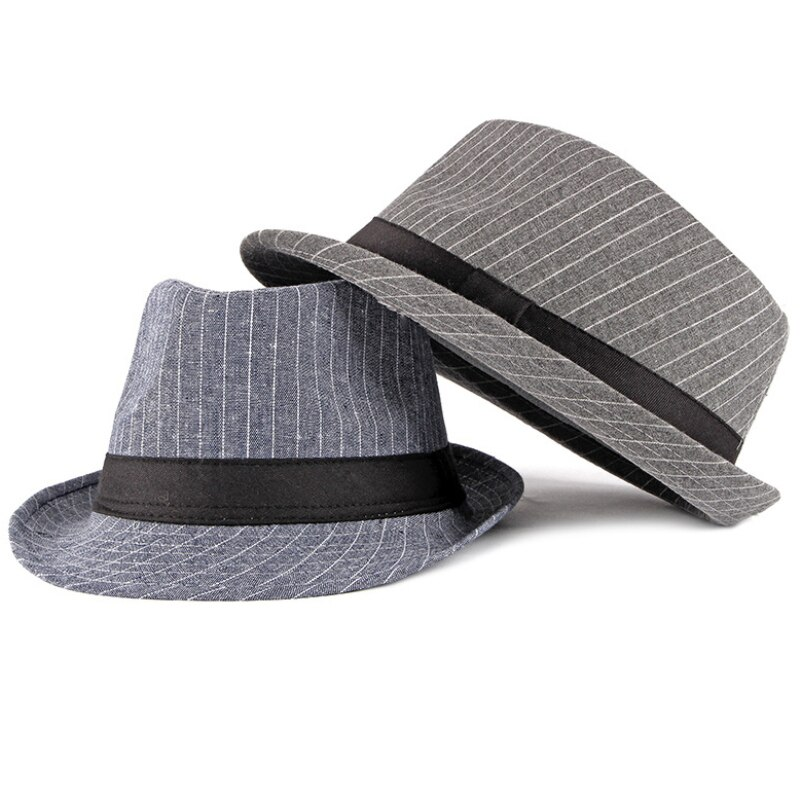 Винтажная полосатая джазовая шляпа, мужская верхняя фетровая шляпа для мужчин, осенне-зимняя Ретро шляпа с бантом, Мужская Панама, оптовая п...