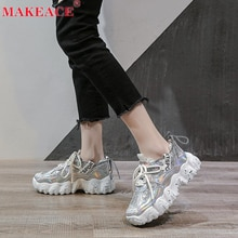2021 Ladies Sneakers Fashion Dad Shoes Outdoor Casual Shoes 36-42 Size Soft Sole Girls Running Shoes