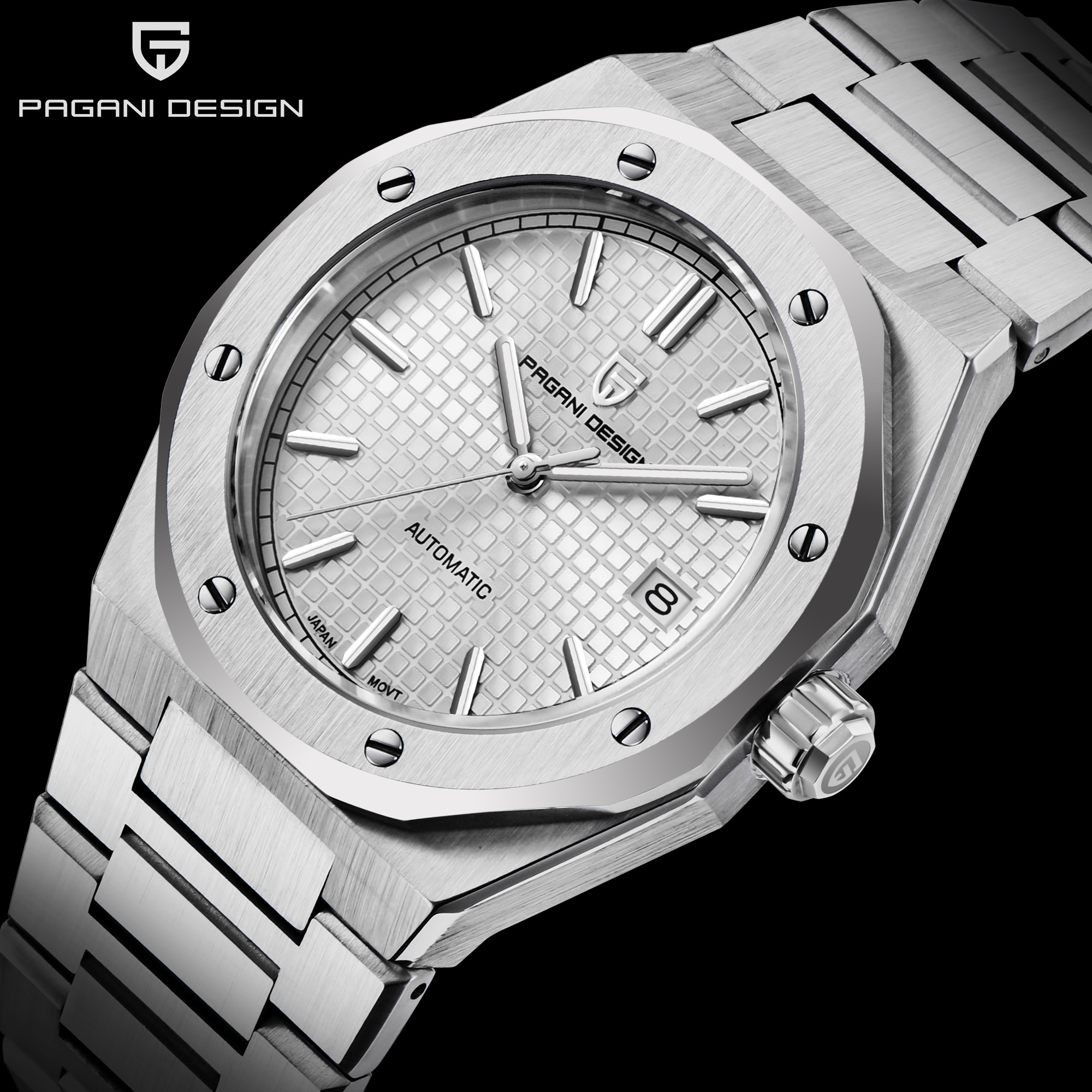 PAGANI Design 2021 New Automatic Mechanical Men's Watches Stainless Steel SAPPHIRE CRYSTAL 100M Waterproof Watches NH35A Relogio