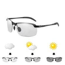 ZXRCYYL Neue Mode Photochrome Polarisierte Sonnenbrille Männer Marke Design fahren Chameleon Verfärbung sonnenbrille UV400