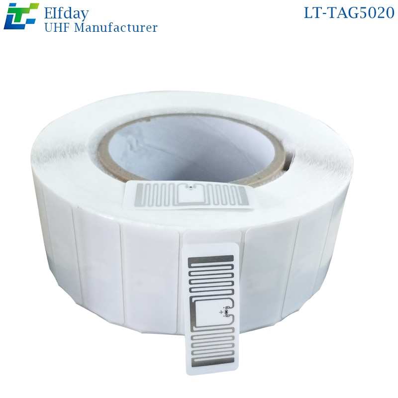 Etiqueta autoadhesiva LT-TAG5020RFID, etiqueta minorista no tripulada, etiqueta electrónica UHF no tripulada para supermercado, chip U8, nueva venta al por menor