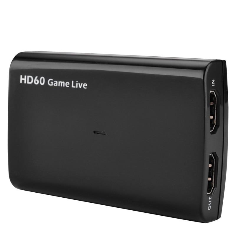 Tarjeta de captura de vídeo HDMI USB 3,0 Mic, HD 1080P 60fps videograbadora de juegos para PS3 PS4 Xbox TV BOX OBS transmisión en directo de Youtube