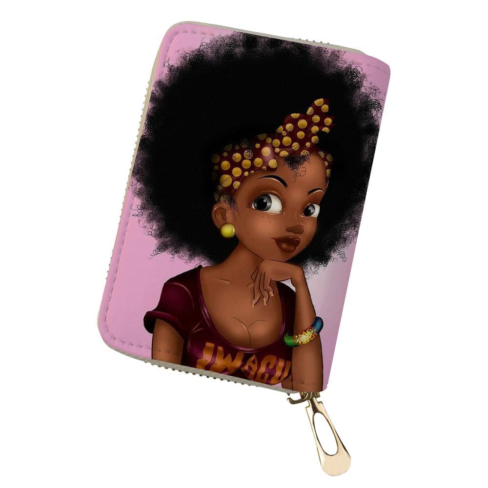 HaoYun женский чехол из искусственной кожи для удостоверения личности, мини-чехол с принтом в африканском стиле для девушек, визитница для жен...