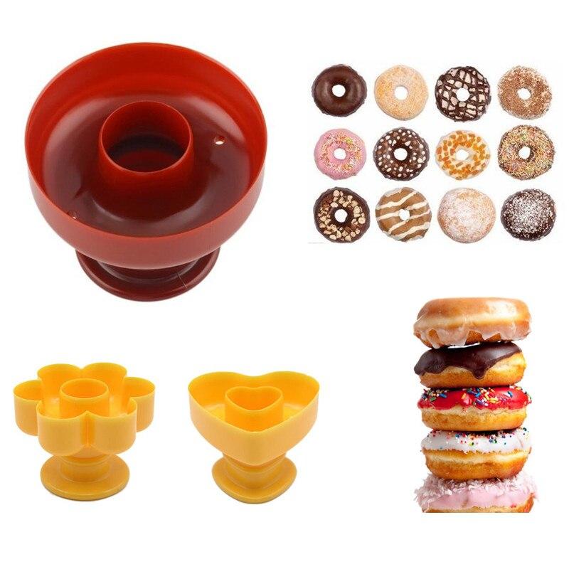 Moule à Donuts à bricolage-même, en plastique de qualité alimentaire, pour couper la pâte, pour décor Fondant, gâteau et Desserts, moule à pâtisserie, 1 pièce