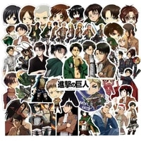 103050pcs attack on titan anime stickers for luggage laptop car suitcase guitar skate graffiti kids sticker pack toys