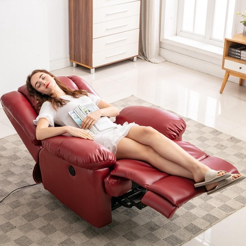 Vibration Massage Chair PU Lazy Sofa Comfortable Living Room Leisure Soft Sofa Multi Function Massage Chair Single Sofa