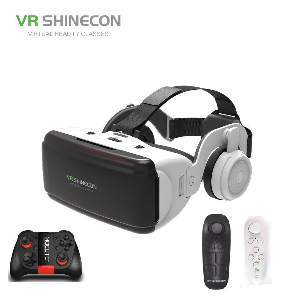 VR SHINECON BOX 5 Mini VR очки 3D G 06E Очки виртуальной реальности VR гарнитура для Google cardboard с наушниками